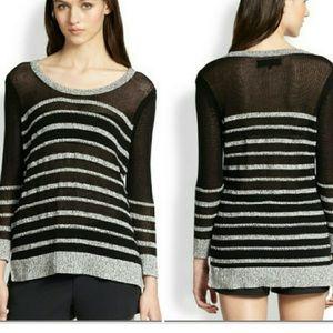 Rag&Bone Gray Black Stripe Azra Sweater
